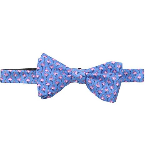Tommy Hilfiger Men's Flamingo Print Self Bow Tie