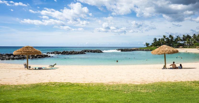 a beautiful beach in Hawaii